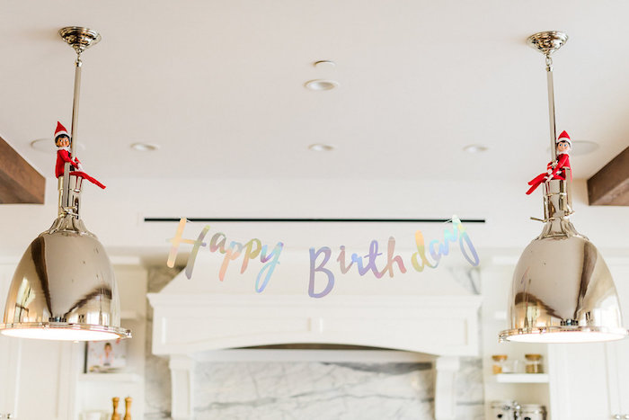 Happy Birthday Banner from a Shimmery Winter Wonderland Party on Kara's Party Ideas | KarasPartyIdeas.com (7)