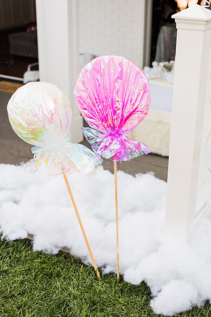 Lollipop sticks from a Shimmery Winter Wonderland Party on Kara's Party Ideas | KarasPartyIdeas.com (3)