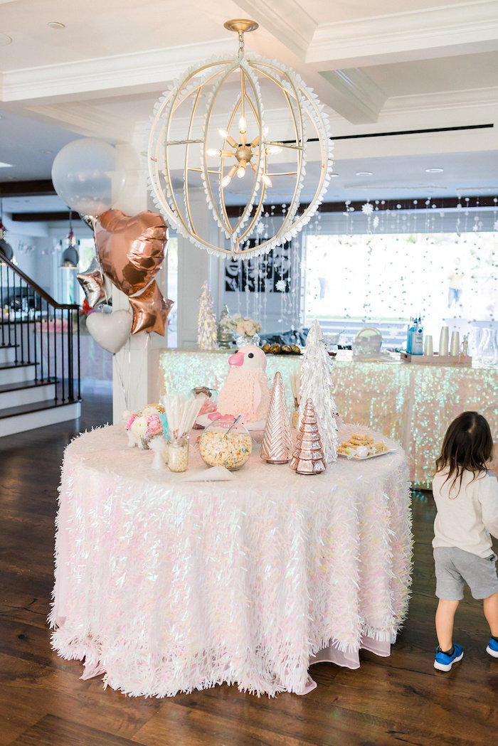 Dessert Table from a Shimmery Winter Wonderland Party on Kara's Party Ideas | KarasPartyIdeas.com (32)