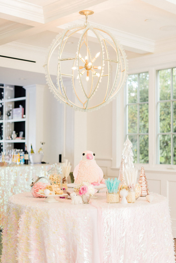 Dessert Table from a Shimmery Winter Wonderland Party on Kara's Party Ideas | KarasPartyIdeas.com (31)
