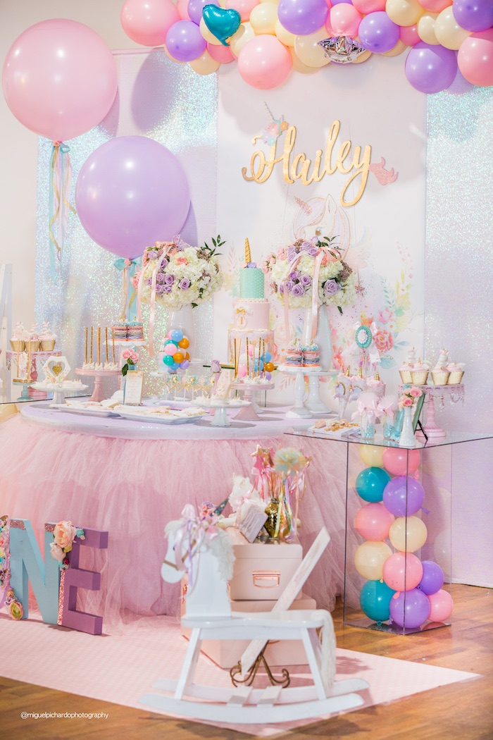 Sparkly Baby Unicorn Birthday Party on Kara's Party Ideas | KarasPartyIdeas.com (4)