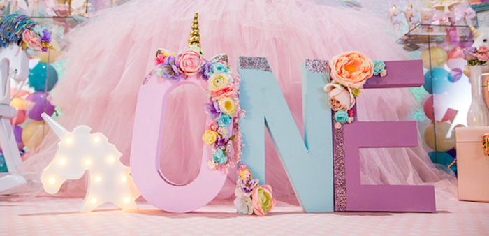Sparkly Baby Unicorn Birthday Party on Kara's Party Ideas | KarasPartyIdeas.com (2)