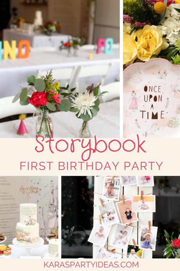 Storybook First Birthday Party via Kara's Party Ideas - KarasPartyIdeas.com (1)