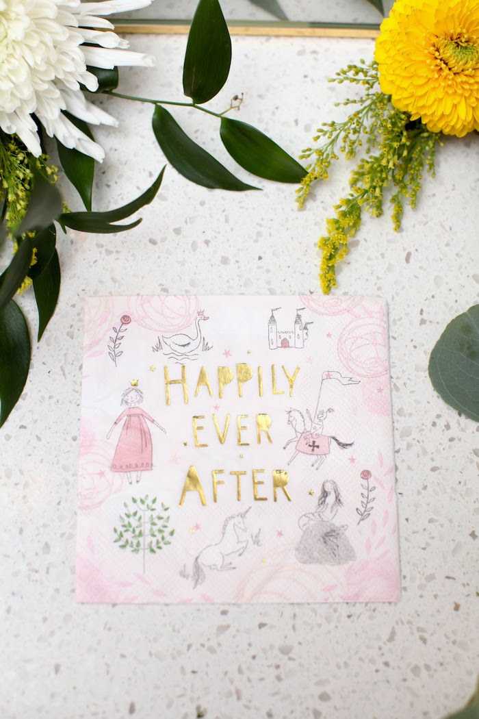 Happily Ever After Napkin from a Storybook First Birthday Party on Kara's Party Ideas | KarasPartyIdeas.com (18)