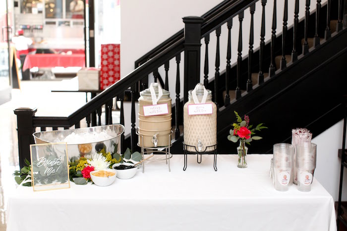 Beverage Table from a Storybook First Birthday Party on Kara's Party Ideas | KarasPartyIdeas.com (17)