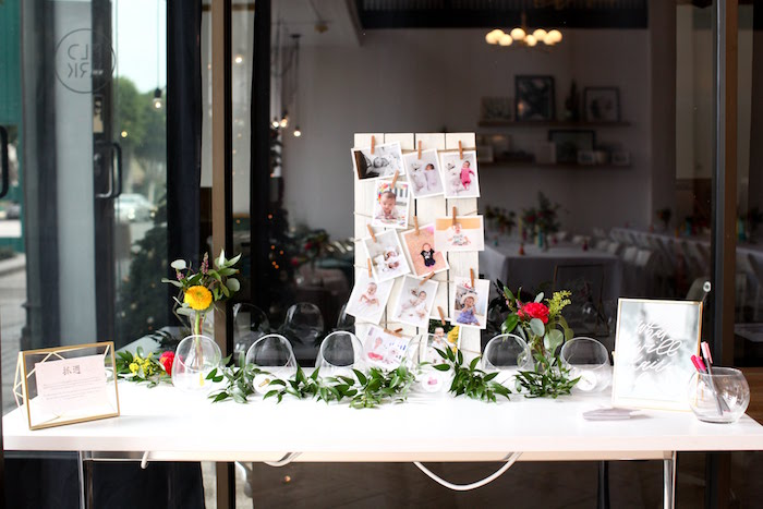 Welcome + Korean Dol Party Table from a Storybook First Birthday Party on Kara's Party Ideas | KarasPartyIdeas.com (15)