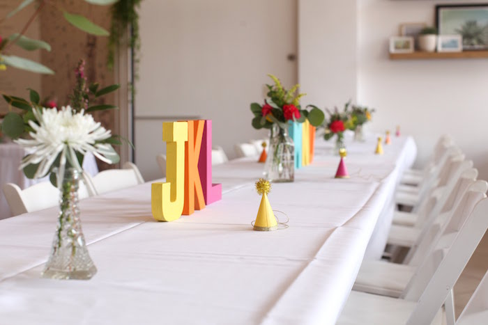 Guest table decor from a Storybook First Birthday Party on Kara's Party Ideas | KarasPartyIdeas.com (12)