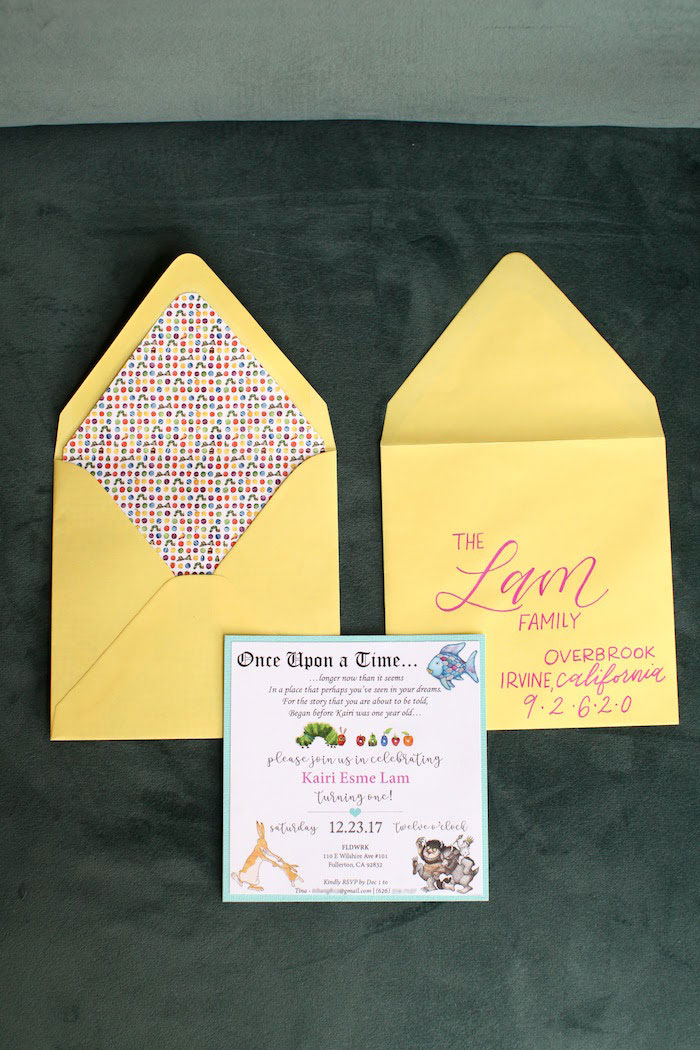 Party Invite from a Storybook First Birthday Party on Kara's Party Ideas | KarasPartyIdeas.com (4)