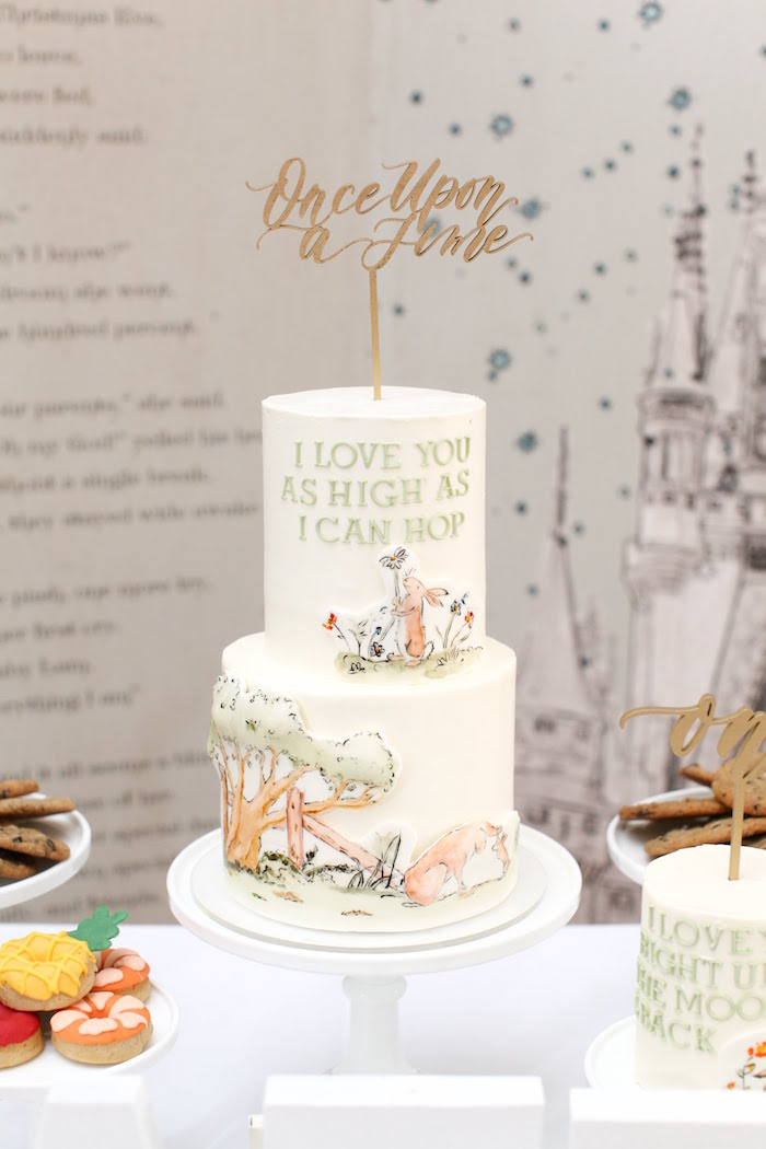 Once Upon A Time Cake from a Storybook First Birthday Party on Kara's Party Ideas | KarasPartyIdeas.com (24)