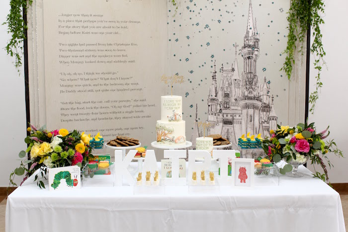 Story Themed Dessert Table from a Storybook First Birthday Party on Kara's Party Ideas | KarasPartyIdeas.com (21)