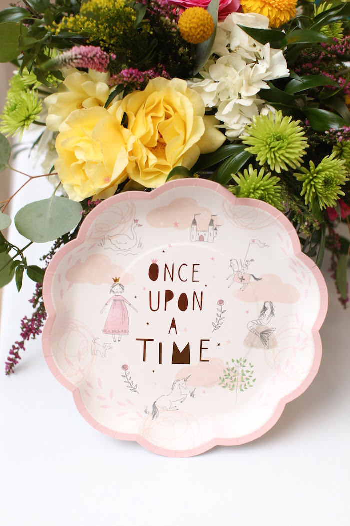Once Upon a Time Plate from a Storybook First Birthday Party on Kara's Party Ideas | KarasPartyIdeas.com (19)