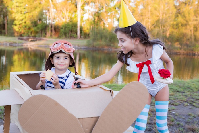 Cardboard Airplane from a The Little Prince Birthday Party on Kara's Party Ideas | KarasPartyIdeas.com (5)
