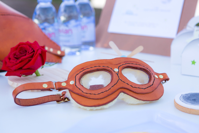 Aviator Mask from The Little Prince Birthday Party on Kara's Party Ideas | KarasPartyIdeas.com (4)