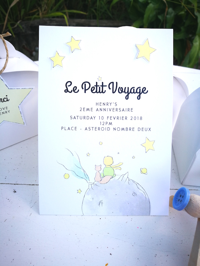 Little Prince Party Invite from The Little Prince Birthday Party on Kara's Party Ideas | KarasPartyIdeas.com (3)