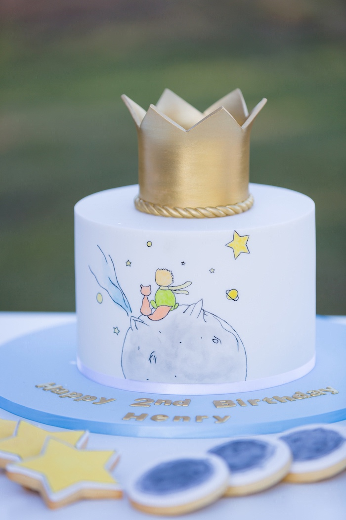 Little Prince Cake from The Little Prince Birthday Party on Kara's Party Ideas | KarasPartyIdeas.com (14)