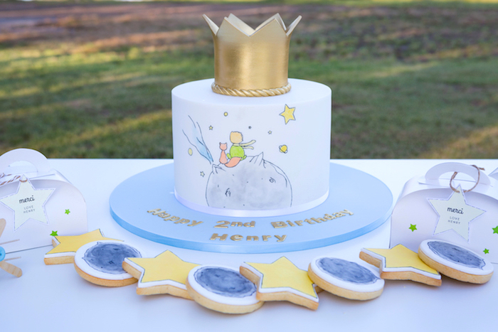 The Little Prince Cake + Cookies from The Little Prince Birthday Party on Kara's Party Ideas | KarasPartyIdeas.com (13)