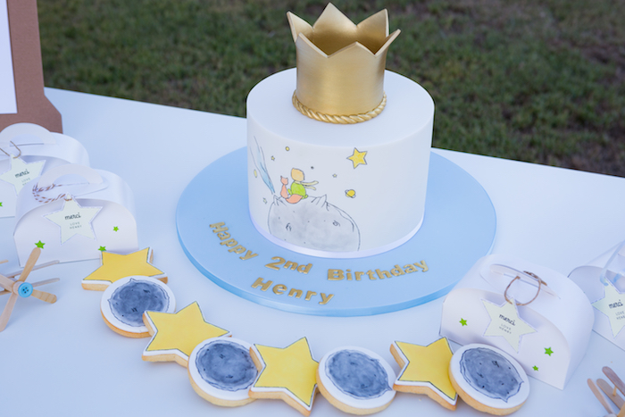 The Little Prince Cake + Cookies from The Little Prince Birthday Party on Kara's Party Ideas | KarasPartyIdeas.com (12)