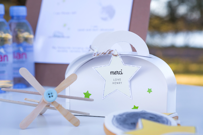 Little Prince Star-studded Favor Box from The Little Prince Birthday Party on Kara's Party Ideas | KarasPartyIdeas.com (11)