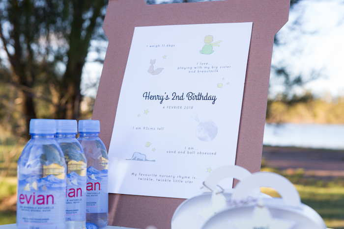 Little Prince Signage + Highlight Board from The Little Prince Birthday Party on Kara's Party Ideas | KarasPartyIdeas.com (10)