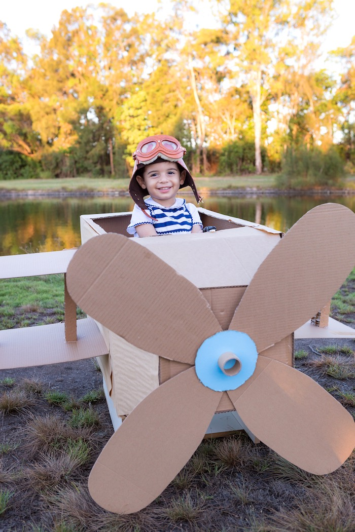 Cardboard Airplane from a The Little Prince Birthday Party on Kara's Party Ideas | KarasPartyIdeas.com (6)