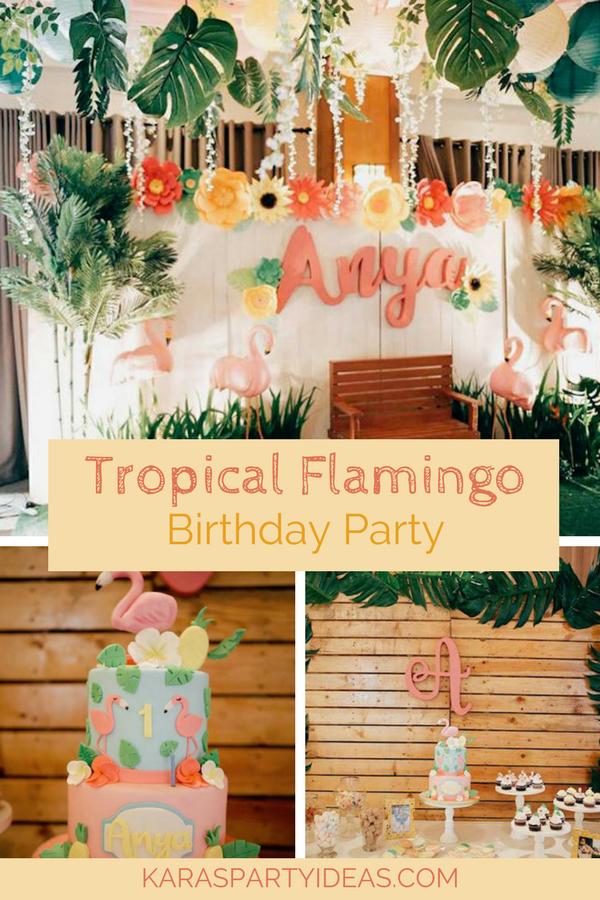 Tropical Flamingo Birthday Party via Kara's Party Ideas - KarasPartyIdeas.com