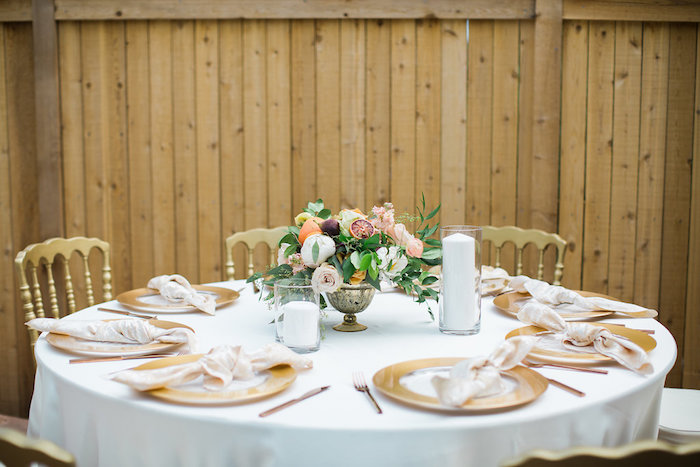 Garden Guest Table from an Umbrella Bridal Shower on Kara's Party Ideas | KarasPartyIdeas.com (24)