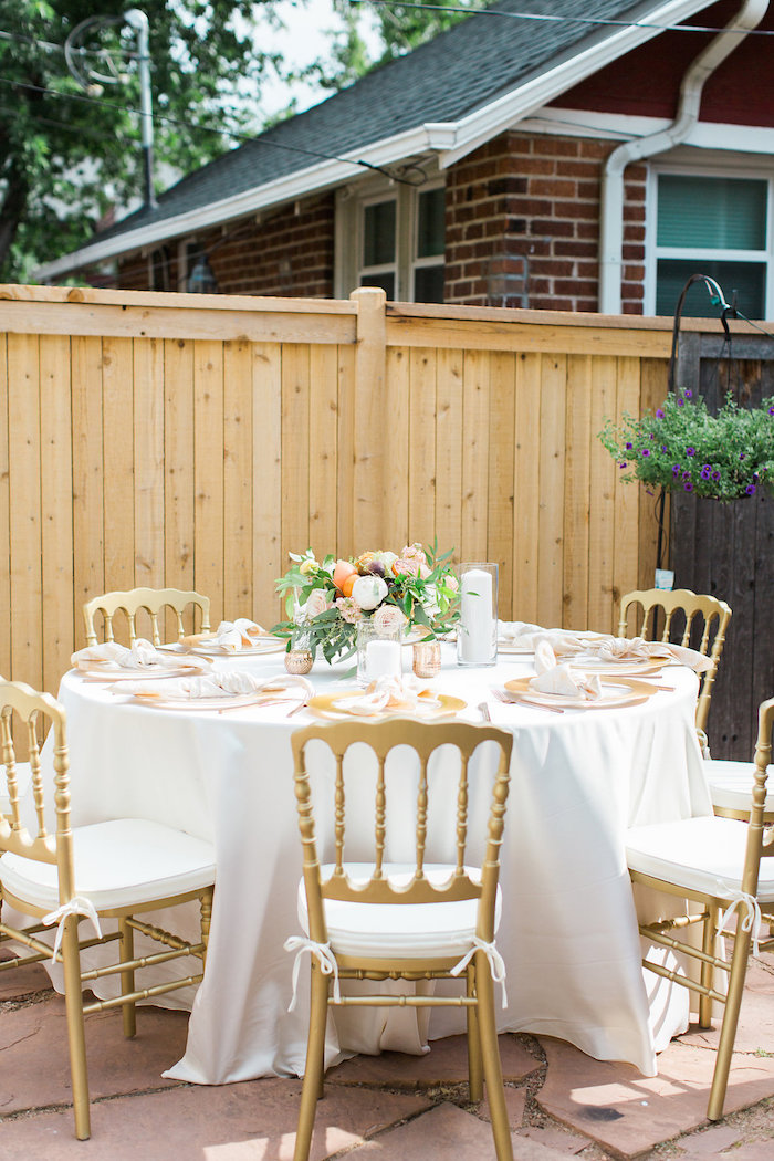 Garden Guest Table from an Umbrella Bridal Shower on Kara's Party Ideas | KarasPartyIdeas.com (19)