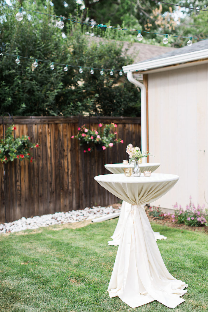 Garden Tables from an Umbrella Bridal Shower on Kara's Party Ideas | KarasPartyIdeas.com (16)