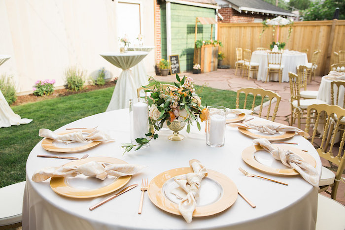 Garden Guest Table from an Umbrella Bridal Shower on Kara's Party Ideas | KarasPartyIdeas.com (4)
