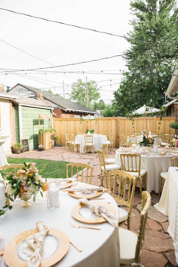 Garden Party Spread from an Umbrella Bridal Shower on Kara's Party Ideas | KarasPartyIdeas.com (3)