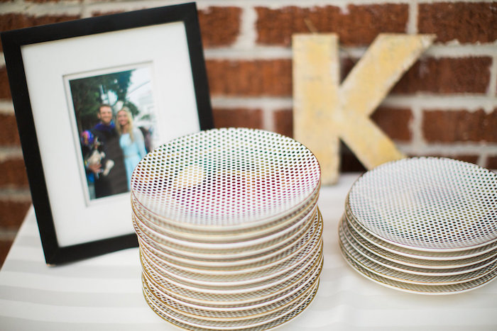 Polkadot Rainbow Plates from an Umbrella Bridal Shower on Kara's Party Ideas | KarasPartyIdeas.com (33)