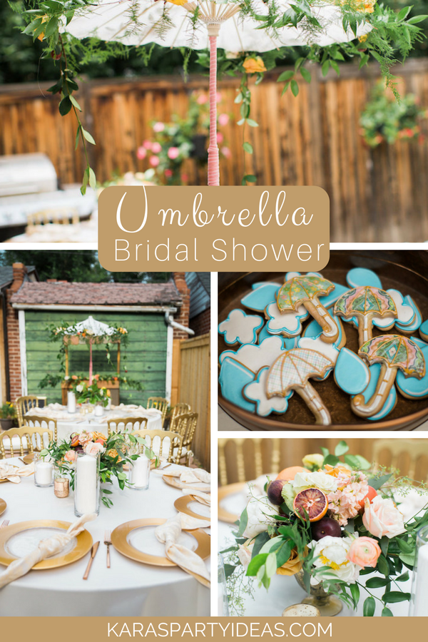 Umbrella Bridal Shower via Kara's Party Ideas - KarasPartyIdeas.com