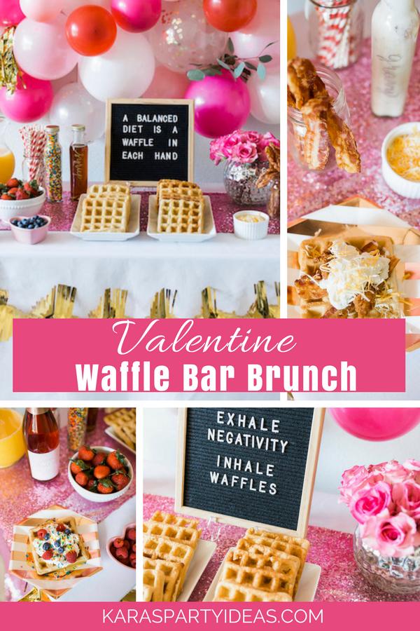 Valentine Waffle Bar Brunch via Kara's Party Ideas - KarasPartyIdeas.com