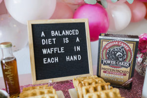 Waffle Letter Board Sign from a Valentine Waffle Bar Brunch on Kara's Party Ideas | KarasPartyIdeas.com (9)