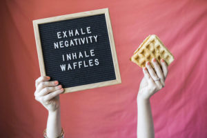 Waffle letter board sign from a Valentine Waffle Bar Brunch on Kara's Party Ideas | KarasPartyIdeas.com (7)