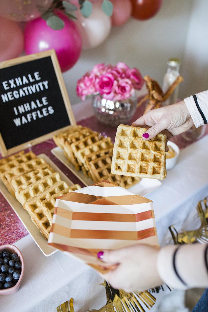 Waffles from a Valentine Waffle Bar Brunch on Kara's Party Ideas | KarasPartyIdeas.com (6)