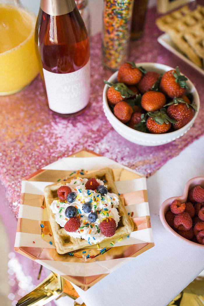 Waffles from a Valentine Waffle Bar Brunch on Kara's Party Ideas | KarasPartyIdeas.com (5)