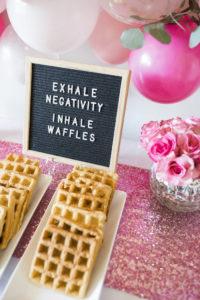 Inhale Waffles Letter Board Sign from a Valentine Waffle Bar Brunch on Kara's Party Ideas | KarasPartyIdeas.com (3)