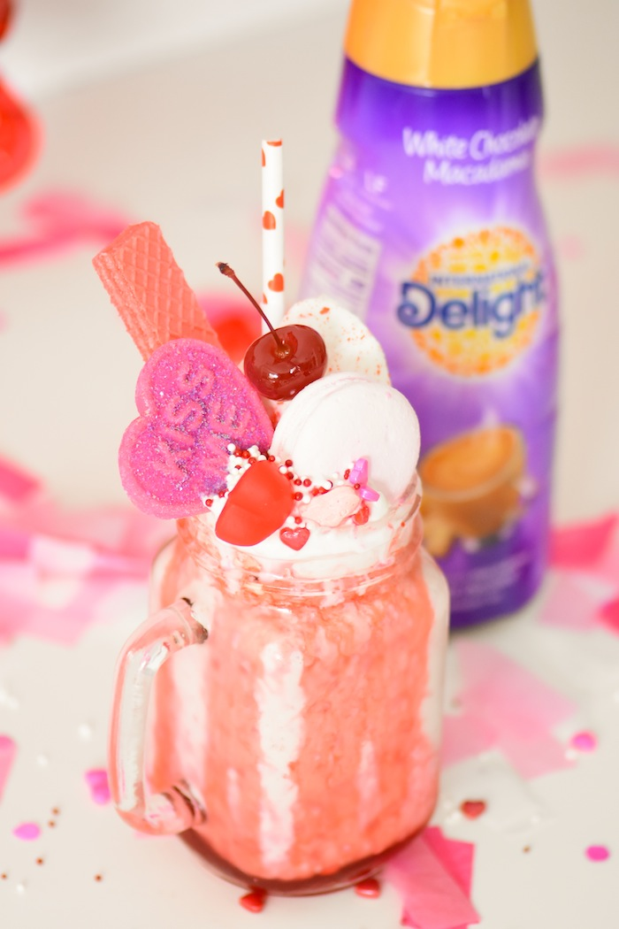 White Chocolate Macadamia Raspberry Crazy Shake Milkshake Recipe by Kara's Party Ideas for International Delight-19