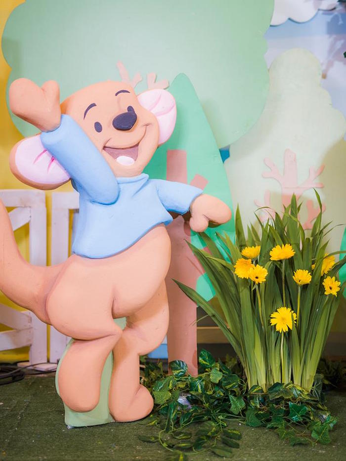 Roo Standee from a Winnie the Pooh Garden Birthday Party on Kara's Party Ideas | KarasPartyIdeas.com (19)