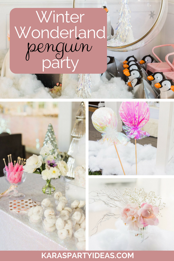 Winter Wonderland Penguin Party via Kara's Party Ideas - KarasPartyIdeas.com
