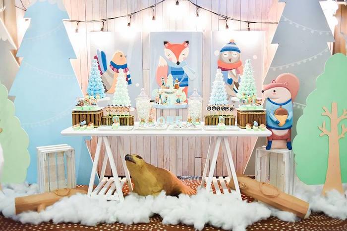 Winter Woodland Birthday Party on Kara's Party Ideas | KarasPartyIdeas.com (12)