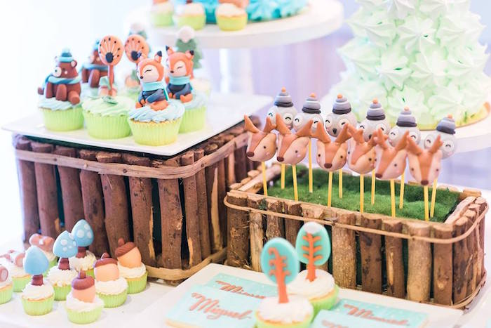 Incredible Karas Party Ideas Winter Woodland Birthday Party Karas Party Ideas Funny Birthday Cards Online Chimdamsfinfo