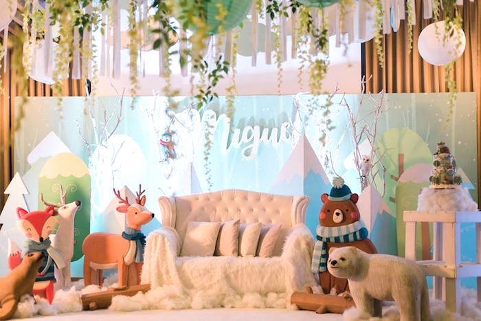 Woodland Lounge from a Winter Woodland Birthday Party on Kara's Party Ideas | KarasPartyIdeas.com (19)