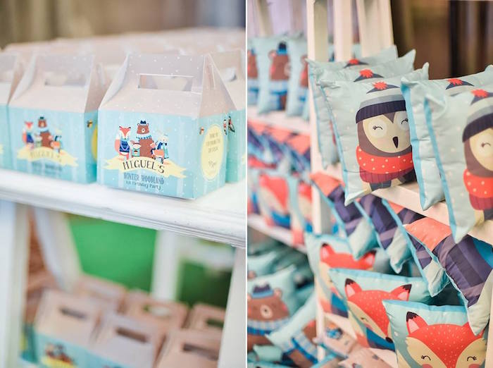 Favors from a Winter Woodland Birthday Party on Kara's Party Ideas | KarasPartyIdeas.com (14)