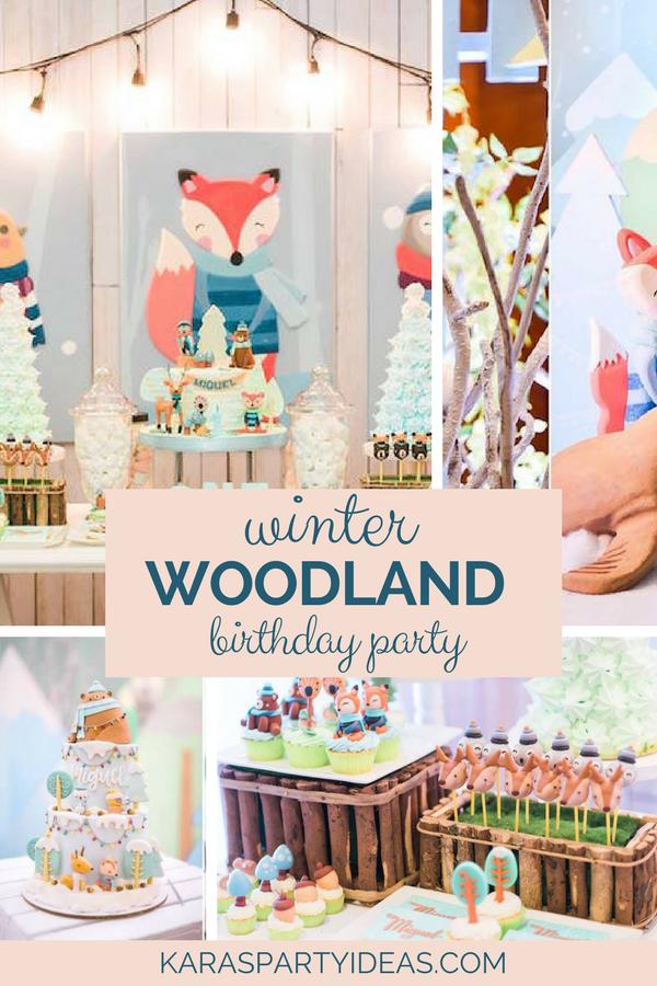 Winter Woodland Birthday Party via Kara's Party Ideas - KarasPartyIdeas.com