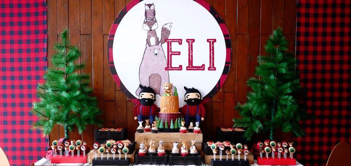 Woodland Lumberjack Birthday Party on Kara's Party Ideas | KarasPartyIdeas.com (3)