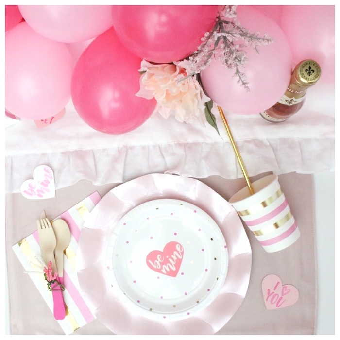 V-Day Place Setting from a You Make My Heart Pop Valentine's Day Party on Kara's Party Ideas | KarasPartyIdeas.com (11)