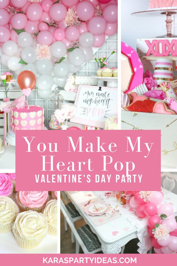 You Make My Heart Pop Valentine's Day Party via Kara's Party Ideas - KarasPartyIdeas.com