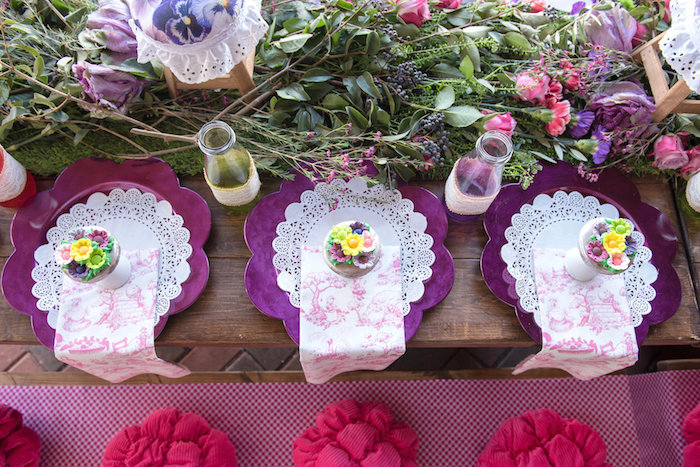 Guest Tabletop from a Little Miss Muffet Birthday Party on Kara's Party Ideas | KarasPartyIdeas.com (26)